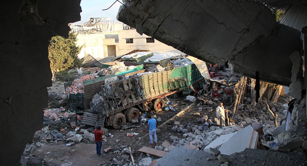При обстреле гумконвоя под Алеппо погибло около 20 мирных граждан — Красный Крест