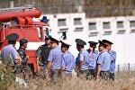 Сотрудники правоохранительных органов Кыргызстана