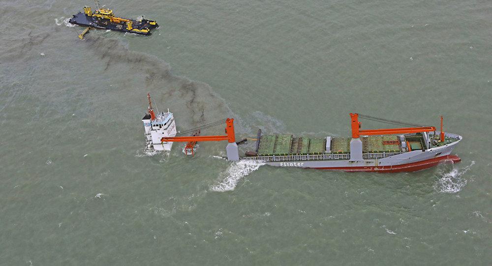 Два нефтяных танкера столкнулись убельгийского побережья