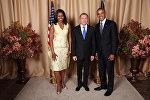 Владимир Макей на торжественном приеме от имени президента на Генассамблеи ООН с Бараком и Мишель Обама