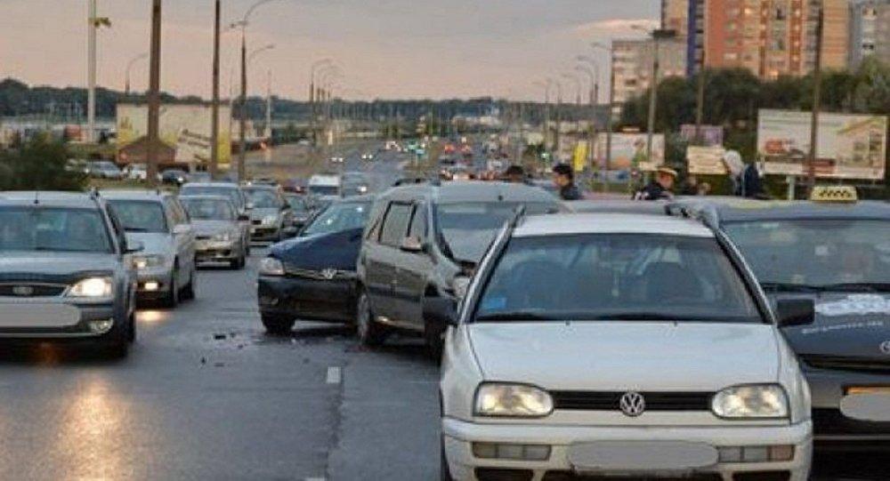 ВБресте наВаршавском шоссе произошла масштабная авария: столкнулись 13 авто