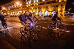 Шоу светящихся велосипедов Велосипедист, дай огня!