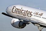 Самолет компании Emirates Airlines