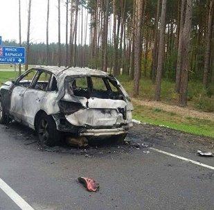 Поврежденная машина Audi