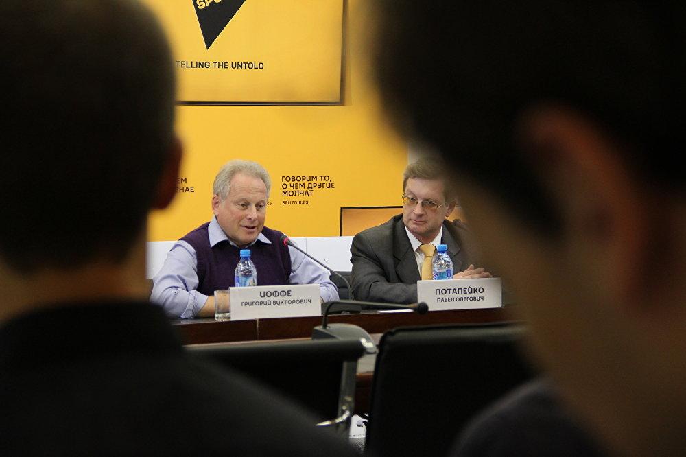 Политологи Григорий Иоффе и Павел Потапейко
