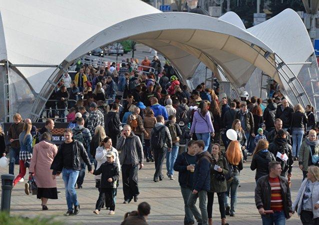 Зрители на H.O.G. Rally Minsk