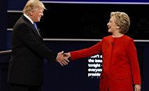 Дональд Трамп и Хиллари Клинтон перед теледебатами