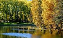 Парк Победы в Минске осенью