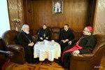Встреча главы БПЦ и апостольского нунция Габора Пинтера