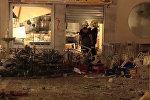 Последствия взрыва в кафе в испанской Малаге