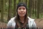 Кадр из видеообращения Алины Талай