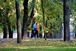 Пробежка в осеннем парке