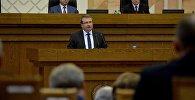Министр финансов Беларуси Владимир Амарин на открытии сессии парламента