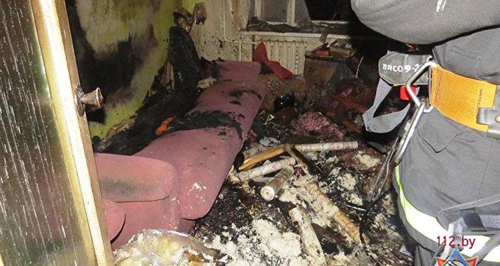 ВВилейке из-за пожара вжилом доме эвакуировали 34 человека