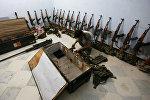 Склад оружия повстанцев в городе Алеппо