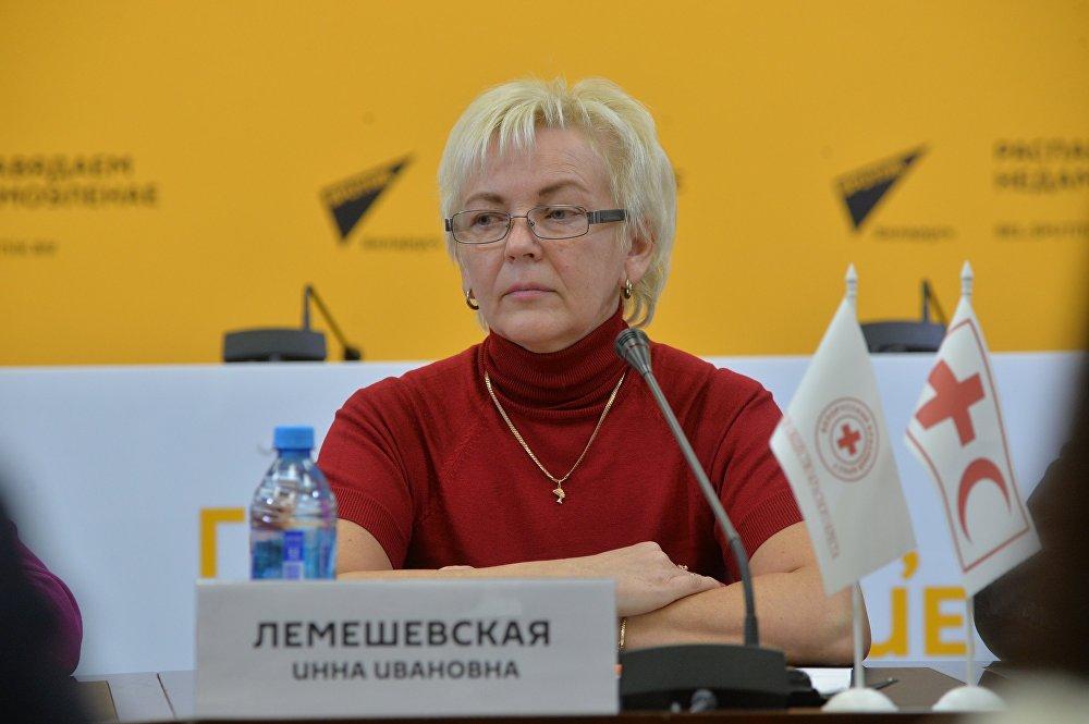 Заместитель генерального секретаря Белорусского Общества Красного Креста Инна Лемешевская