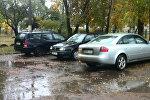 Брошенный во дворе автомобиль виновника аварии