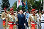 Церемония официальной встречи Президента Беларуси Александра Лукашенко с участием почетного караула, 5 октября 2016 года
