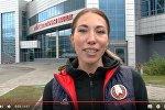 Кадр видеоприглашения Марины Арзамасовой на матч Беларусь - Люксембург