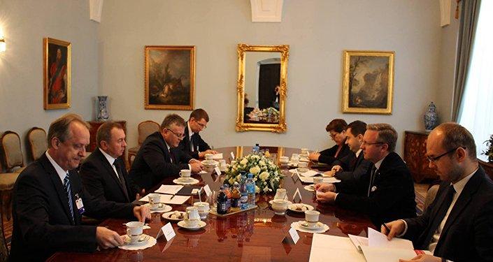 Уладзімір Макей у Польшчы падчас афіцыйнага візіту