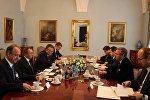 Владимир Макей в Польше во время официального визита