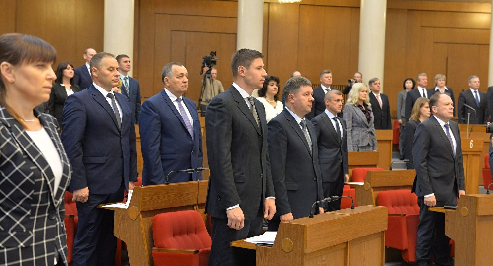 Открытие первой сессии Палаты уполномоченных шестого созыва