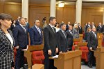 Беларускія дэпутаты на адкрыці сесіі парламента