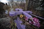 Кресты, поврежденные неизвестными вандалами, архивное фото