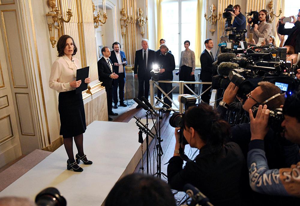 Секретарь Шведской академии Сара Даниус
