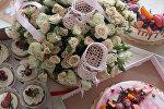 Праздничный стол в честь новорожденной Дарьи Домрачевой