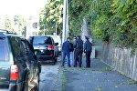 Последствия взрыва у здания Абхазского гостелевидения в Сухуме