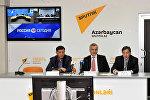 Видеомост в пресс-центре Sputnik Азербайджан 27.01.2016