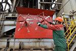 Эксплуатационная скважина Речицкого нефтяного месторождения