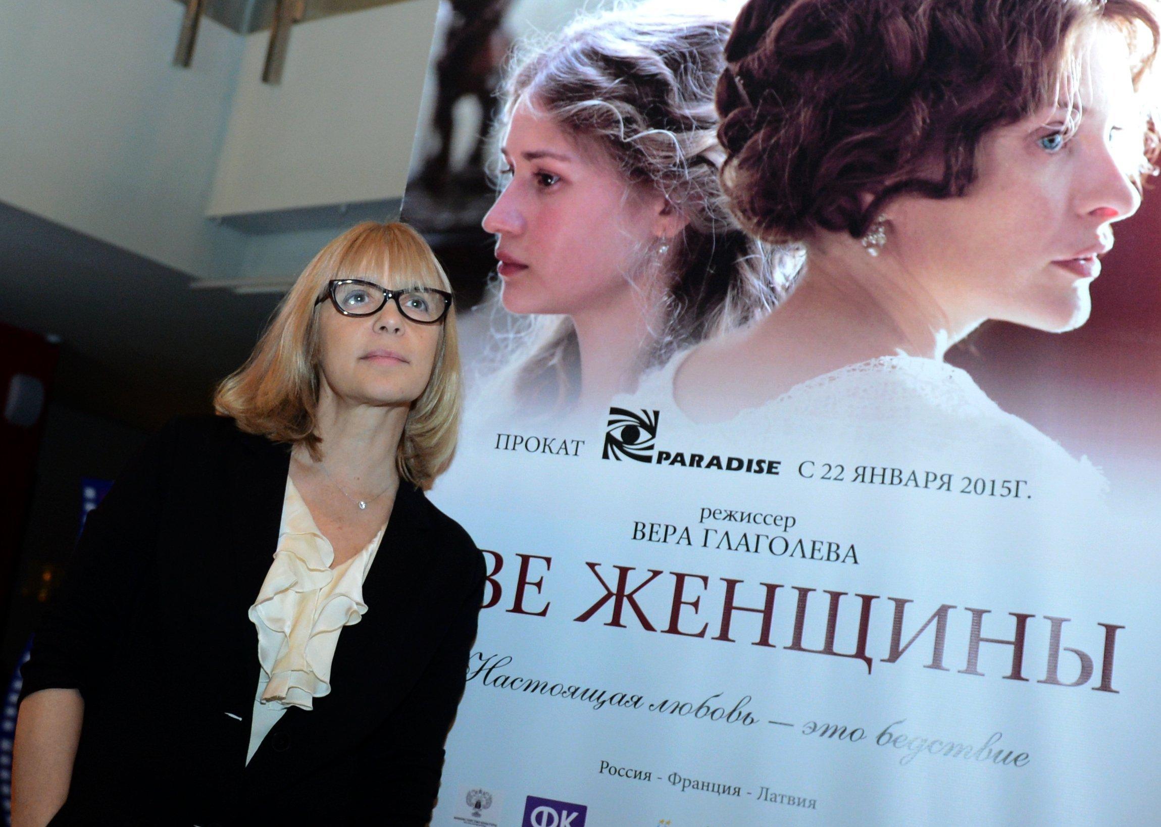 Актриса и режиссер Вера Глаголева перед премьерой своего фильма Две женщины