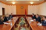 Министр иностранных дел Беларуси Владимир Макей встретился с заместителем помощника Государственного секретаря США по делам Европы и Евразии Бриджит Бринк