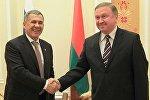 Встреча премьер-министра Беларуси Андрея Кобякова с президентом Татарстана Рустамом Миннихановым