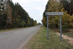Дорога на деревню Шарпиловка, где было обнаружено тело убитой сельской учительницы