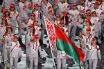 Представители Беларуси во время парада атлетов и членов национальных делегаций на церемонии открытия I Европейских игр в Баку