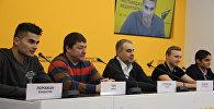 Видеомост Минск-Ереван с участием руководства и игроков хоккейного клуба Арарат из Еревана