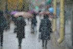 Дождь в Минске, архивное фото