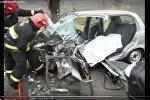 МЧС опубликовало видео вырезания тела из Daewoo Matiz