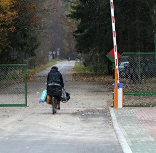 Контрольно пропускной пункт на границе Беларуси