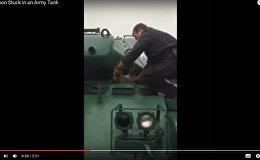 Енот не пролез в Бульдог: как спасали животное, застрявшее в танке