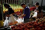 Венесуэльцы на рынке