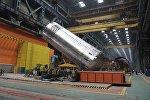 Корпус реактора на заводе Атомэнергомаш