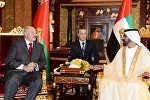 Александр Лукашенко и шейх Мухаммед бен Рашид аль-Мактум