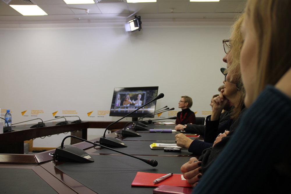 Пресс-конференция, посвященная премьере фильма режиссера Дмитрия Астрахана
