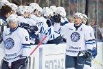 Хоккеисты минского Динамо в выездном матче КХЛ