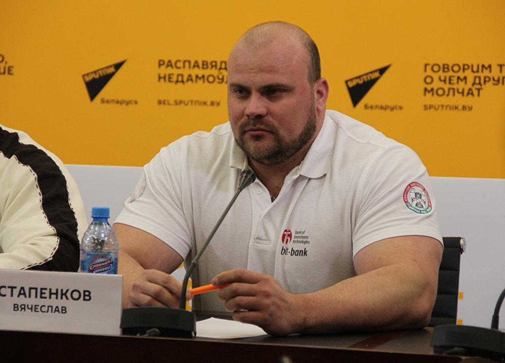 Член сборной Республики Беларусь Вячеслав Астапенков