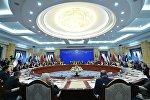 Заседание совета глав правительств государств - членов Шанхайской организации сотрудничества (ШОС)